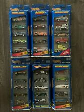 OLDER HOT WHEELS LOT OF 6 FACTORY SEALED 5 PIECE GIFT PACKS, 30 CARS TOTAL B-75