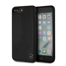 Mercedes NEW BOW II Leder iPhone 7 Plus, 8 Plus SCHUTZHÜLLE Back Case Schwarz