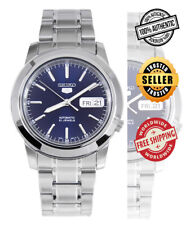 Seiko 5 Automatic SNKE51 SNKE51K1 Men Day Date Blue Dial Stainless Steel Watch