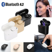Mini Wireless Bluetooth 4.2 Earbud True Bass Stereo In-Ear Earphone TWS Headset