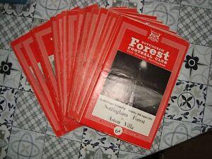 Full season of Nottingham Forest 1963-64 home programmes - 22 programmes in all