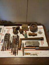 Vintage/old Tools, hardware other   drill bits, slag hammer more