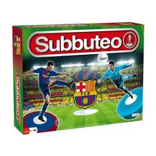 More details for official fc barcelona subbuteo game set boys mens toy football figures soccer