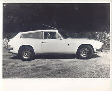 Reliant Scimitar Original b/w Press Photo side view in front of brick wall