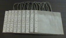 (Lot of 9) Nordstrom Small Silver Shopping Gift Bag Size 10 X 8 X 4 New