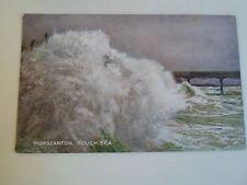 Vintage Colour Tinted Postcard HUNSTANTON, Rough Sea Celesque Series Unposted