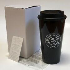NEW Coffee Bean & Tea Leaf Black Travel Mug 16 oz Double Wall Hot + Cold Tumbler