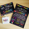 PERSONALISED First day of School Nursery Reception Print & Sign Chalkboard A4