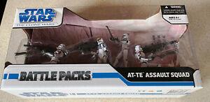 STAR WARS Clone Wars BATTLE PACK (2008) -- AT-TE ASSAULT SQUAD Set -- SEALED