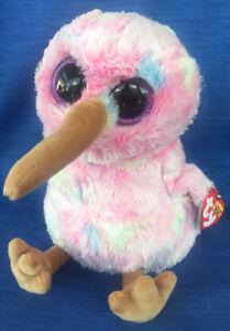 W-F-L TY Boos Kiwi Colourful 9 3/8in Bird Glubschi Boo ´ S