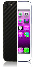 Skinomi Carbon Fiber Black Skin+Screen Protector Cover for Apple iPod 5G 16GB