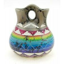 Small Navajo Horsehair Wedding Vase By Hilda Whitegoat