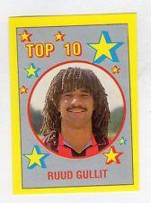 figurina IL GRANDE CALCIO VALLARDI 1988/89 NUMERO 307 TOP 10 GULLIT
