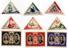 Rare 1956 Monaco Royal Wedding / Triangle Stamps MNH Vintage Commemorative Set