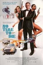 "007 No Time to Die Movie Poster Wall Decor Custom Silk Print 11x17""/28x43cm"