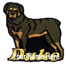 Rottweiler Custom Iron-on Patch With Name Personalized Free