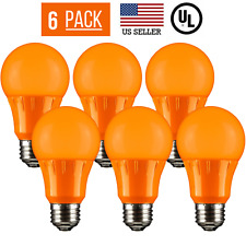 6 PACK 3W LED A15 COLORED LIGHT BULB, NON-DIMMABLE, E26 MEDIUM BASE, ORANGE