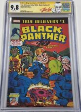 Marvel True Believers Black Panther #1 Signed by Stan Lee CGC 9.8 SS Avengers