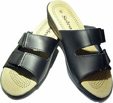Genuine Leather Healthy Comfort/Comfortable Women's Sandals Shoes (Velcro)