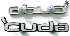 """1970 74 Plymouth Cuda Door Panel Emblems """"Cuda"""" NEW MoPar"""