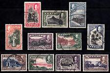 Ceylon KGV 1935 USED SG368 to SG378