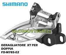 SHIMANO - Deore XT FD-M785-E2 Top-Swing deragliatore anteriore per doppia