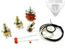 NEW! Quality PRS Wiring Upgrade Kit - Orange Drop Cap, CTS Pots, Switchcraft