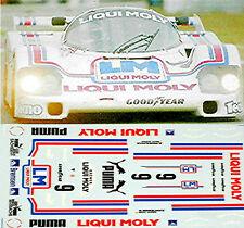 Porsche 962 Liqui Moly #9 DRM 1:24 Pegatina Adhesivo