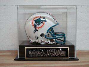 Peyton Manning Mini Helmet Case With A Denver Broncos Engraved Nameplate