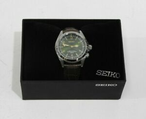 SEIKO SARB017 MECHANICAL Alpinist Automatic Men's Wrist Leather Watch - Brown