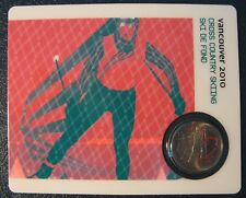 2009 - 25-Cents - Cross Country Skiing - Painted Leaf - Petro Canada Coin Card