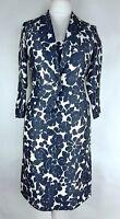Jigsaw Ladies Floral Linen Blend 2 Piece Dress Suit UK 10 Occasion Races (L)