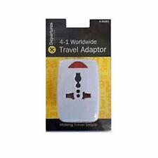 4 in 1 Worldwide Travel Plug Adaptor Multi Compact Holiday Europe US Asia World