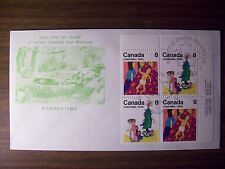 "Canada Fdc 1975 Winnipeg ""Summertime"" Corner Blk Of 4 Free Us Shipping"