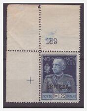 ERITREA 1925 -  GIUBILEO DEL RE   Lire  1,25    NUOVO ** NUMERO DI TAVOLA