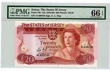 Jersey ... P-14b ... 20 Pounds ... (1976-88) ... GEM*UNC*  PMG 66.