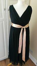 Next Black Chiffon Maternity Dress Beautiful Pregnancy Evening Wear worn once 10