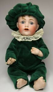 Cute Little Antique Bisque & Composition Kestner JDK 257 Baby Boy Doll