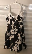 Lookbook Store Womens Bow Swimdress Bandeau One-Piece Skirt Bathing Suit