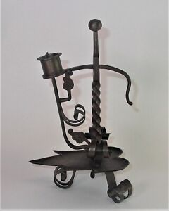 - toller alter SCHMIEDEEISEN Kerzenständer -  verstellbar