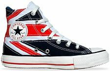 CONVERSE ALL STAR CHUCKS SCHUHE EU 44 UK 10 THE WHO ENGLAND FLAG PUNK UNION JACK