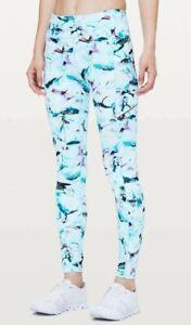"Lululemon Size 2 Speed Up Tight 28"" Exposure Multi Blue Luxtreme Pants Leggings"