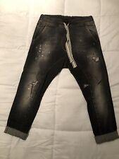 Jeans Strappati Con Macchie Di Colore Unisex