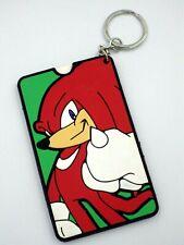 KEychain Porte-clés Sonic le Hedgehog knuckles porte étiquette pour valise  neuf
