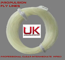 Propulsion Pro Weight Forward Clear Fly Line - WF6 Intermedite + Free Braid Loop