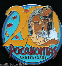 DISNEY STORE EUROPE 20TH ANNIVERSARY POCAHONTAS LIMITED EDITION 300 PIN SOLD OUT