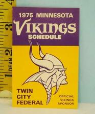 1975 Minnesota Vikings Football Schedule Twin City Federal Official Sponsor