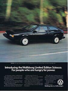 1983 Advertisement - VOLKSWAGEN WOLFSBURG LIMITED EDITION SCIROCCO