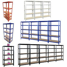 Black/Red/Blue/Galvanised Storage Shelving Unit 5-Tier 180cm H X 90cm W x 40cm D