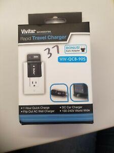 Vivitar Rapid Travel Digital Camera Charger VIV-QCB-905(BRAND NEW SEALED IN BOX)
